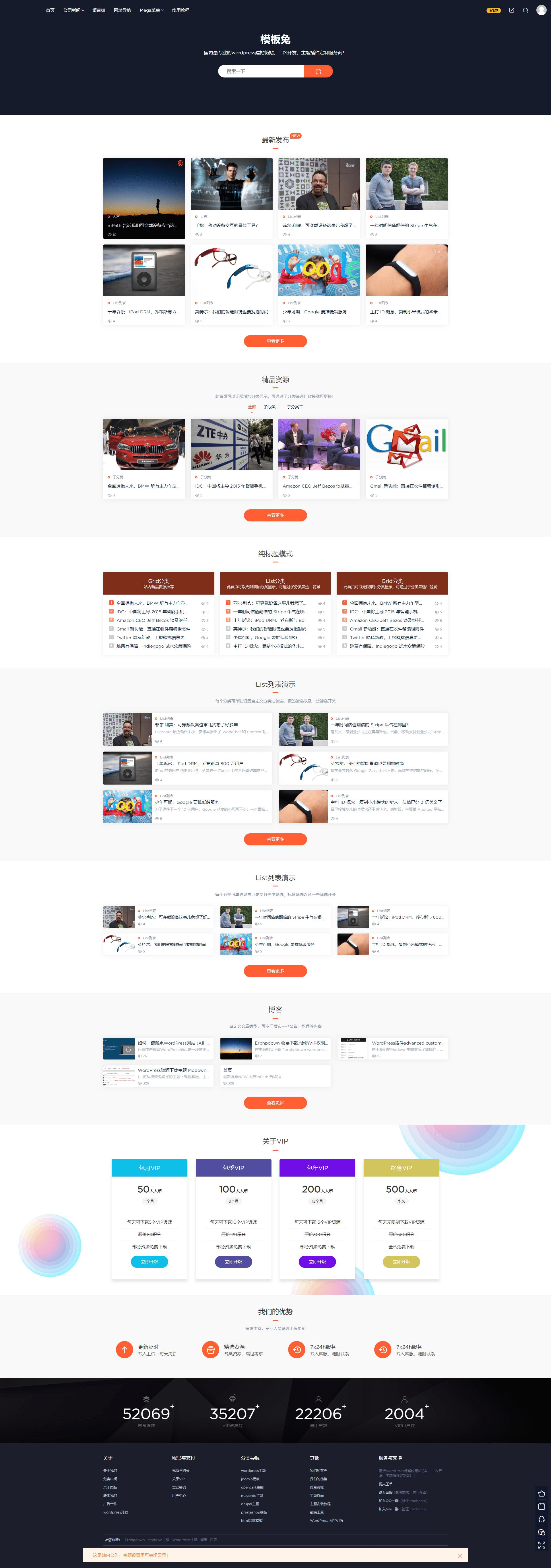 WordPress主题Modown4.3+Erphpdown10.3插件 附教程带整站