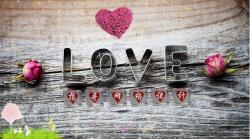 浪漫的LOVE电脑桌面PSD设计源码