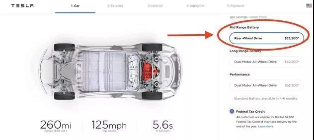 """30万!特斯拉Model 3发布新版本:搭配""""中距离""""电池 续航260英里,小刀娱乐网"""
