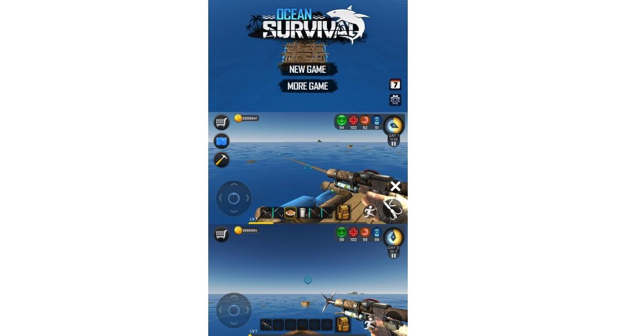 安卓游戏 海洋生存破解版 无限金币