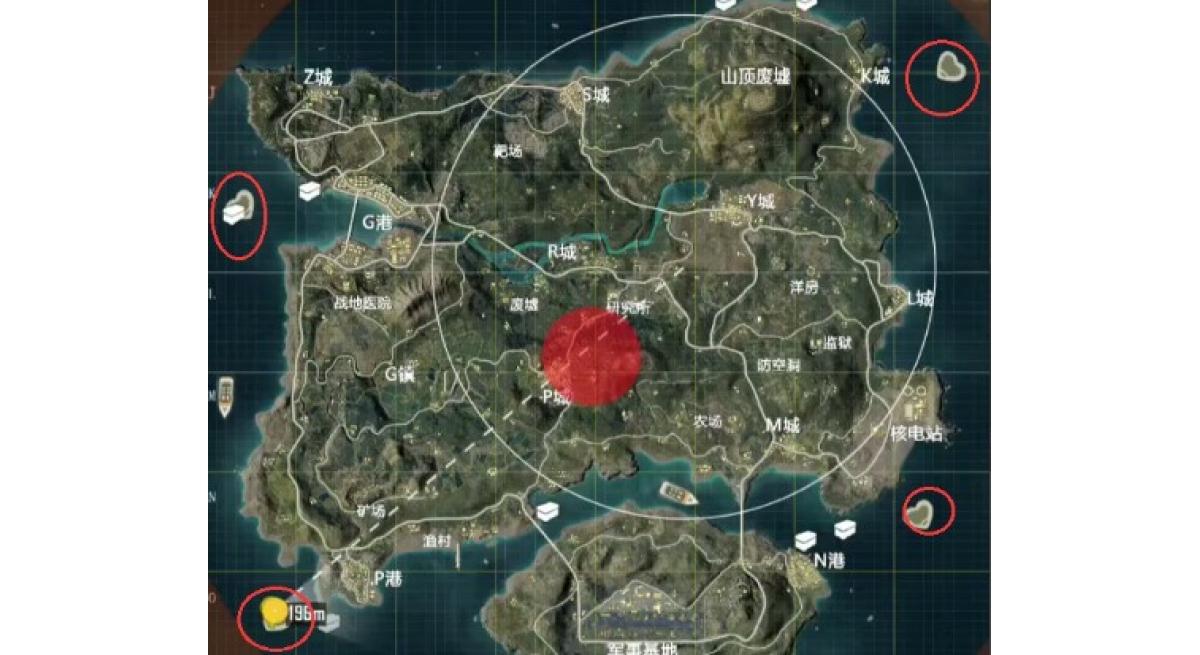 和平精英爱心岛位置具体在哪里 爱心那个小岛在哪里
