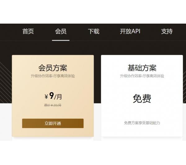 腾讯文档新增会员方案9元/月 增加各种高级功能次数等